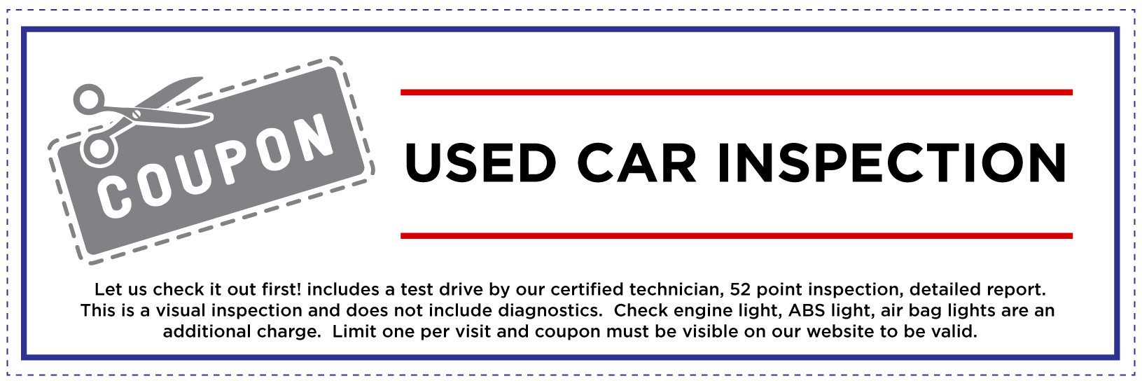 Used Car Inspection Coupon for Website
